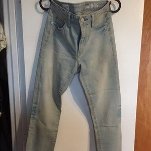 Light blue Gap high rise skinny jeans